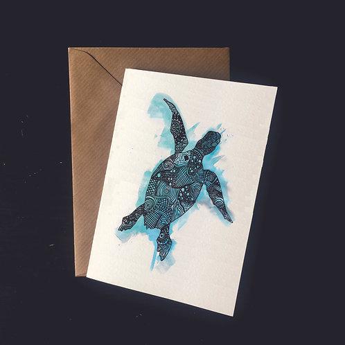 Turtle | A6 greetings card | blank inside