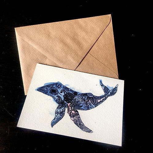 Whale | A6 greetings card | blank inside