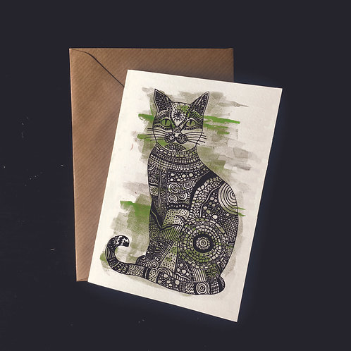 Cat | A6 greetings card | blank inside