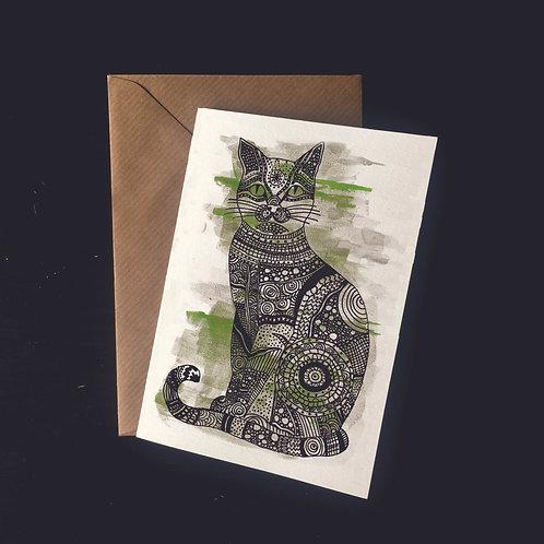 Cat | A6 greetings card | blank inside