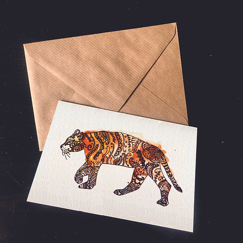 Tiger | A6 greetings card | blank inside