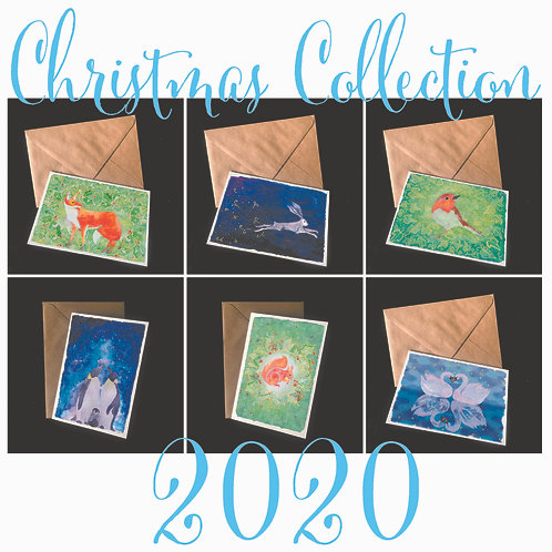 Christmas Collection | Pack of 24 cards in 6 winter designs