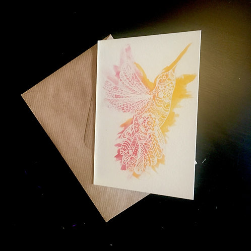 Hummingbird | A6 greetings card | blank inside