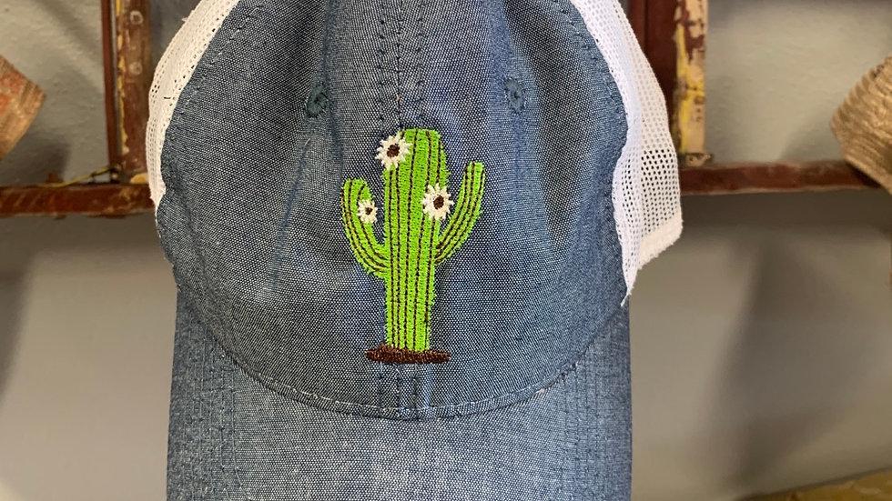 Denim Cactus Cap