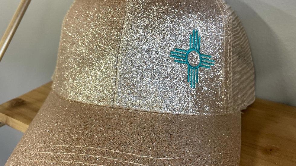 Glitter CC Ponytail Caps