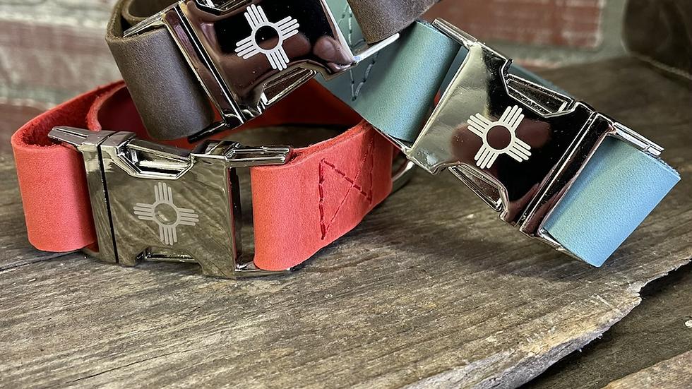 """Leather Zia Collars-Medium 11""""-14"""""""
