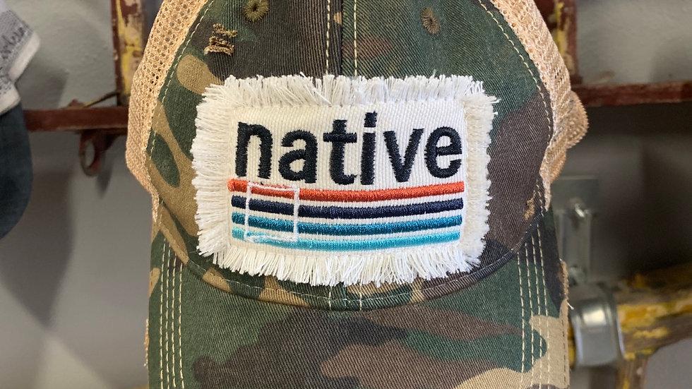 Camo Native Cap