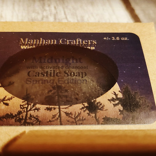 Midnight: Spring Edition charcoal castile Soap