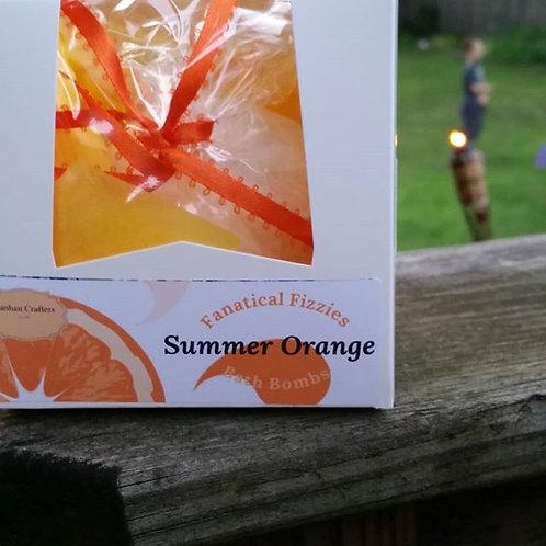 Fanatical Fizzie Summer Orange bath bomb