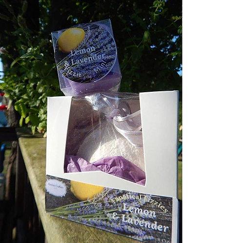 Fanatical Fizzie Lemon & Lavender bath bomb