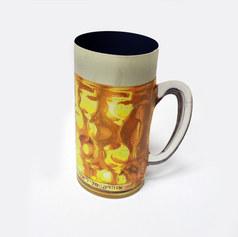 """מוצר קד""""מ - כוס בירה תלת מימדית חתוכה מנייר"""