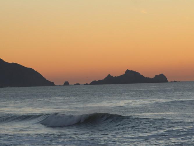 Sunset at Linda Mar Beach