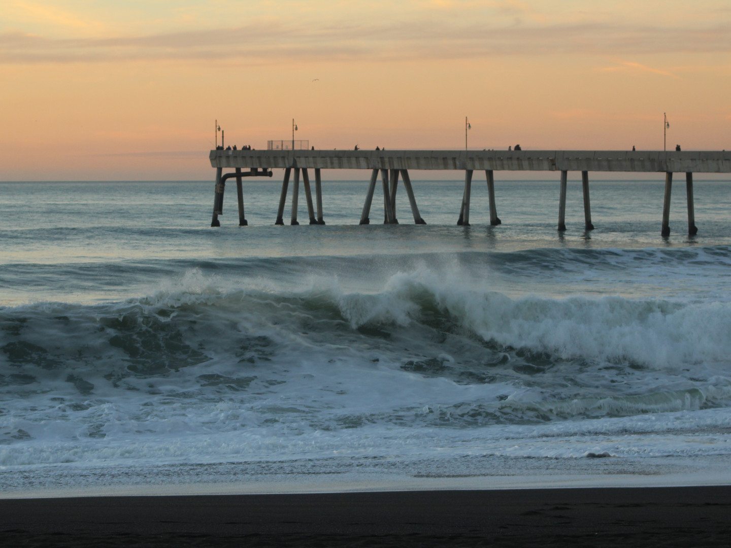 Waves at the Pier