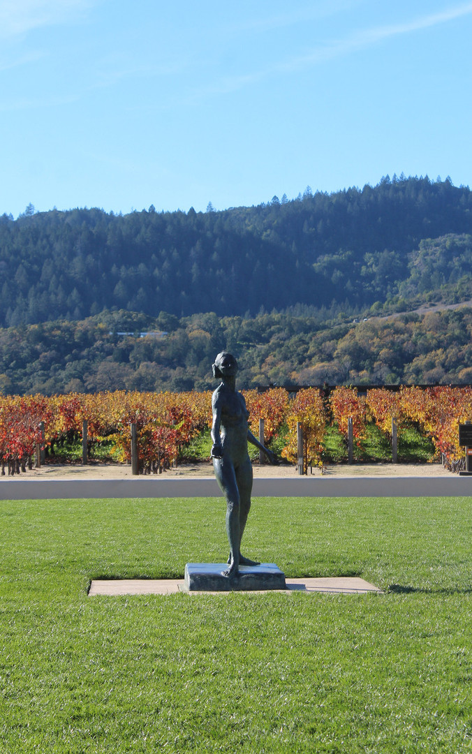 Statue in a Winery