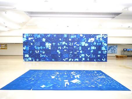 【Exhibition 2019】中之条小・中学生約200人と制作した 現在の青図 @中之条ビエンナーレ2019