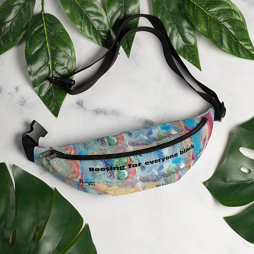 Fanny Pack Rooting for everyone black by ANoellJay