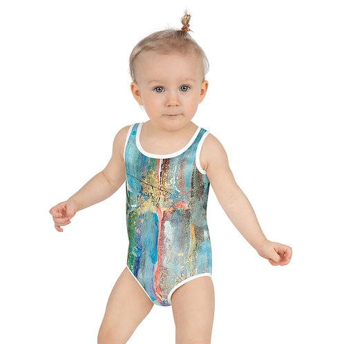 Golden Sweet Sugarcane All-Over Print Kids Swimsuit