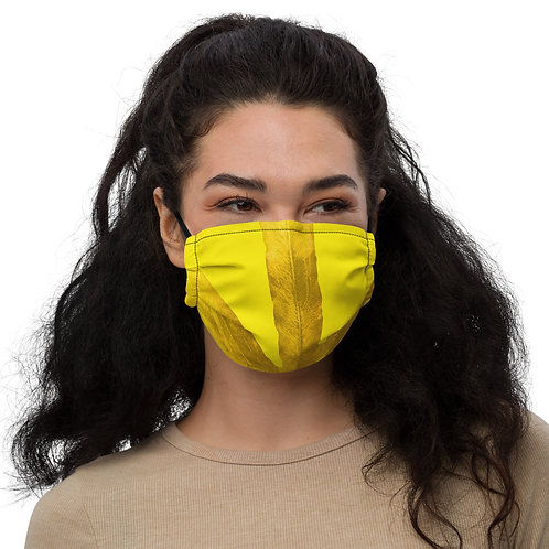 Marigold Millenial Yellow Fern by ANolleJay, Premium face mask