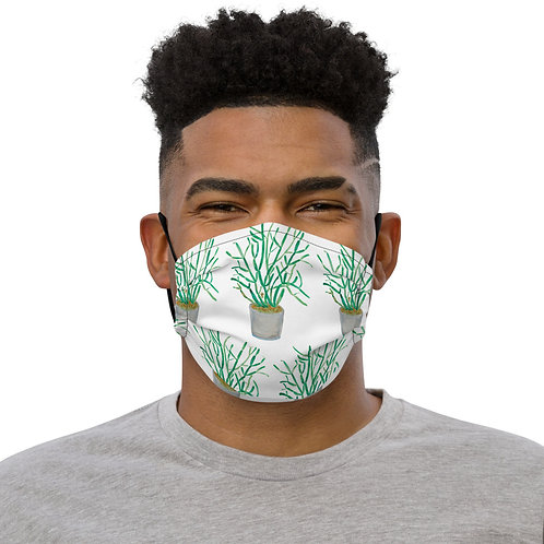 Pencil Plant, Quarantine Watercolor - Premium ANoelleJay face mask