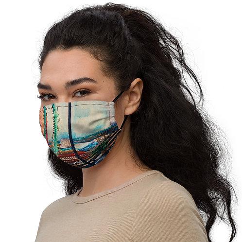 Quarantine Painting, Brooklyn NY by ANoelleJay Premium face mask
