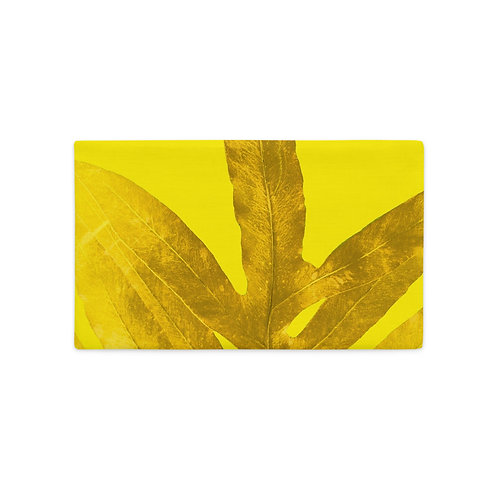 Marigold Millennial Yellow Fern, Premium Pillow Case