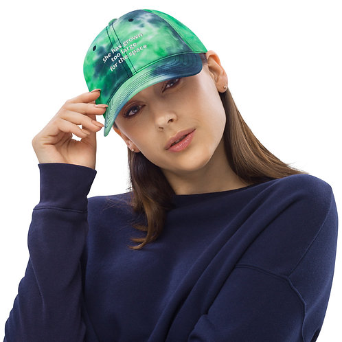 She has grown too large for the space they made for her - Original - Tie dye hat