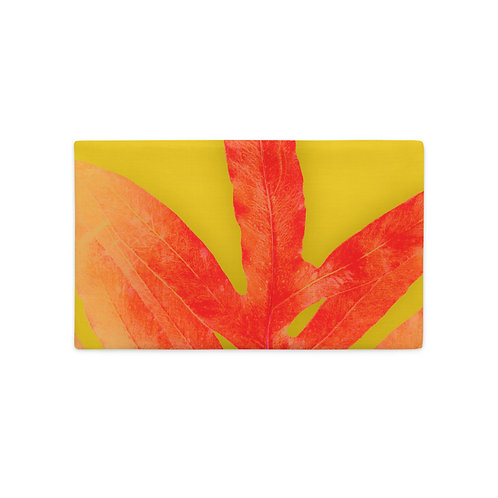 Millenial Yellow and Red Fern, Premium Pillow Case