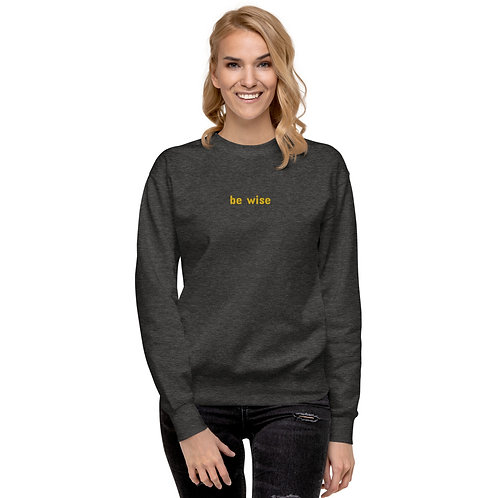 Be Wise Unisex Fleece Pullover