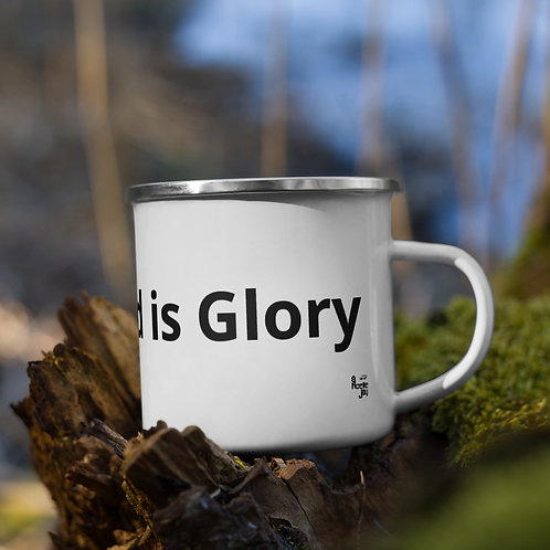 Enamel Mug Your Trend is Glory by ANoelleJay by Alicia Noelle Jones