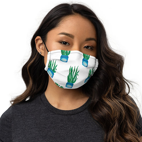 Snake Plant, Quarantine Watercolor - Premium ANoelleJay face mask