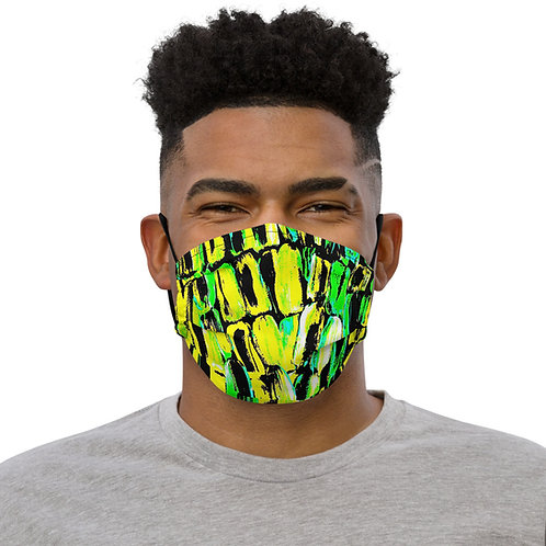 Jamaican Sugarcane by ANolleJay, Premium face mask