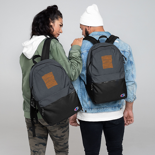 Embroidered Champion Backpack ANoelleJay Gold Lines