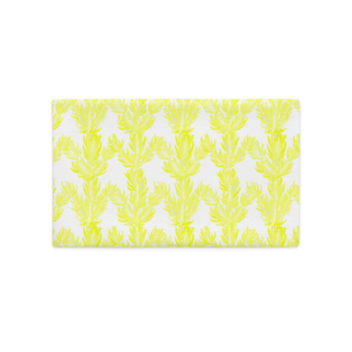 Yellow Succulent, Premium Pillow Case