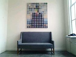 Dot Man over Sofa