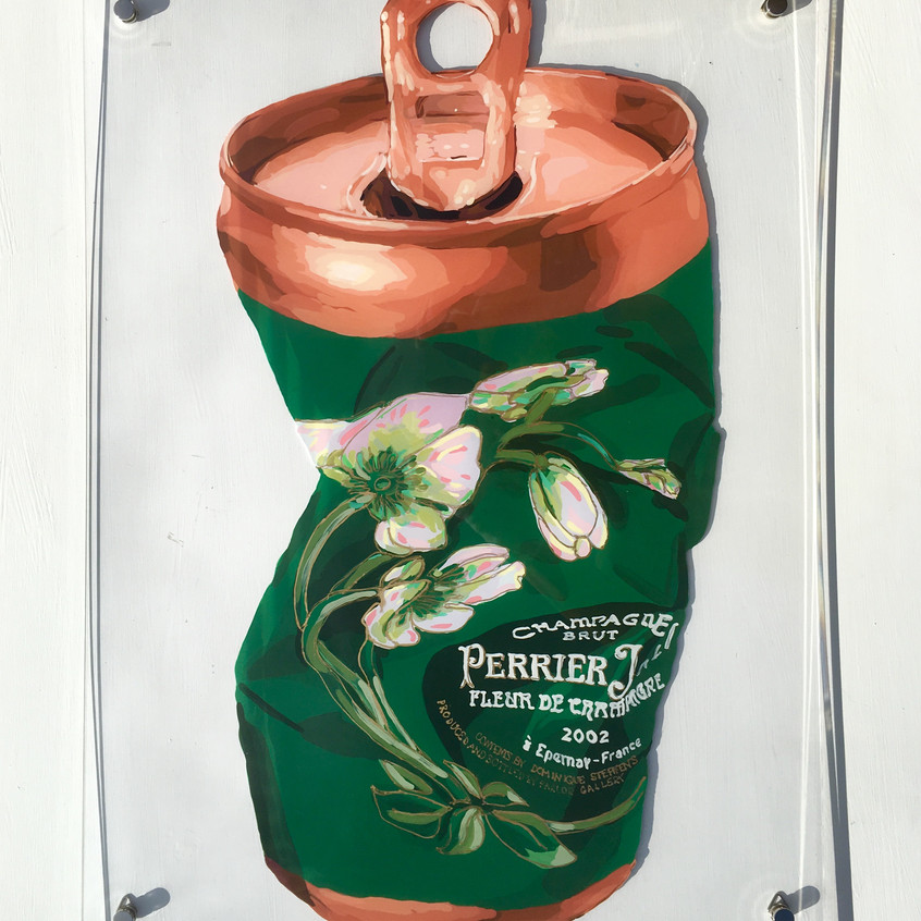CRUSHED PERRIER JOUET CAN