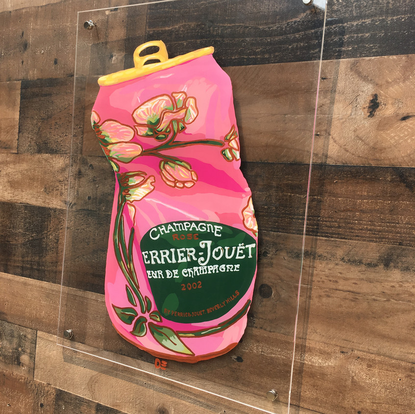 CRUSHED PERRIER JOUET ROSE CAN