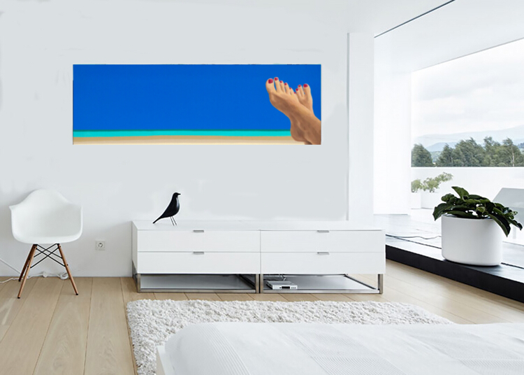 FEET FIRST on wall