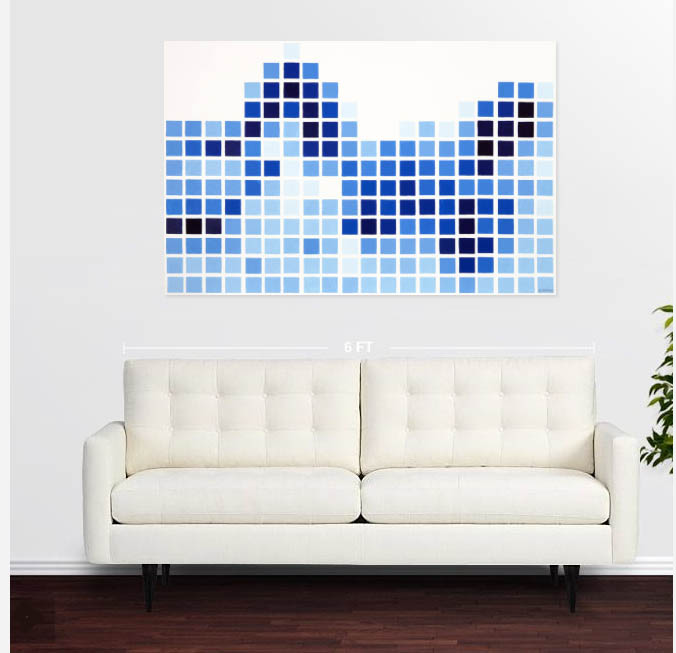 Delft Tile Guy over Sofa