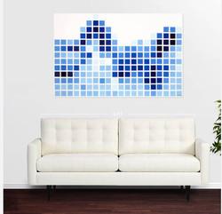 Delft Tile Guy over Sofa