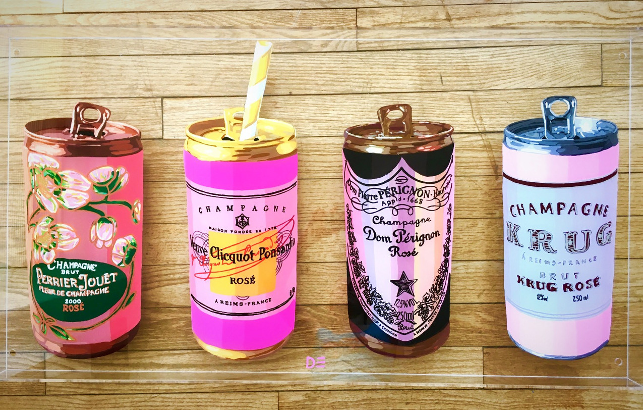 FAB FOUR Champagne Cans
