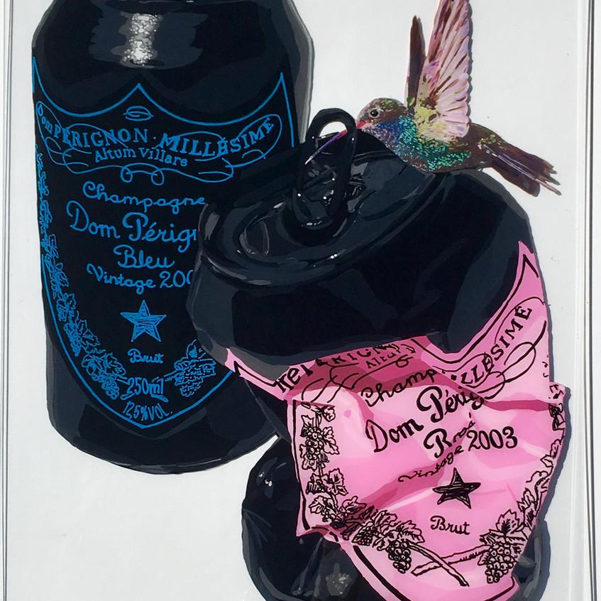 BLACK DOMS WITH BIRD