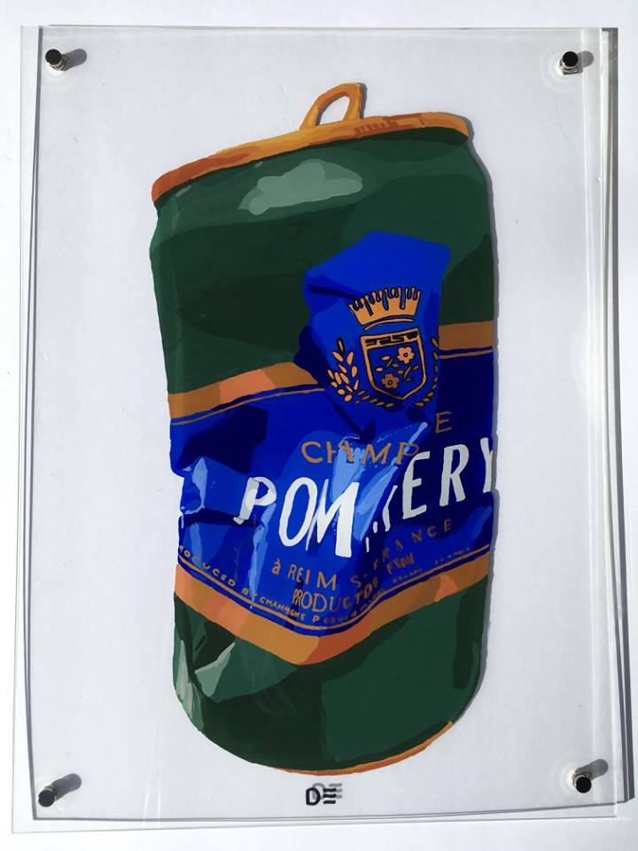 Crushed Champagne Can Pommery
