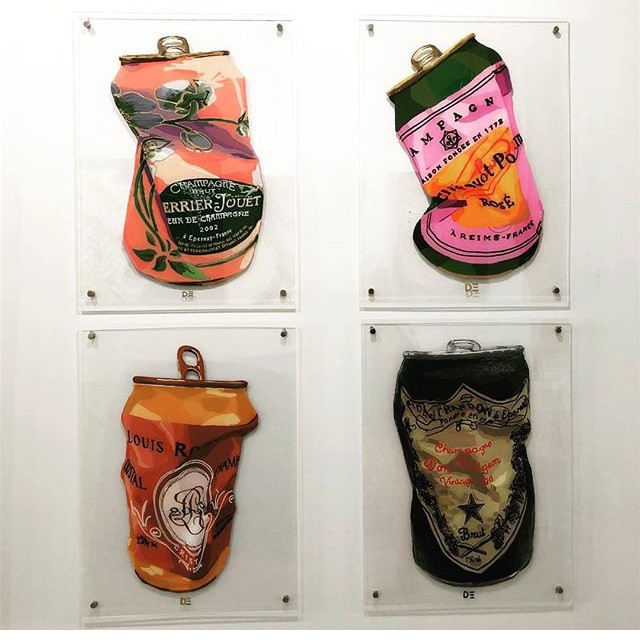 Very exited to have these brand new cans shown at the marvellous LOVEARTGallery in South Norwalk