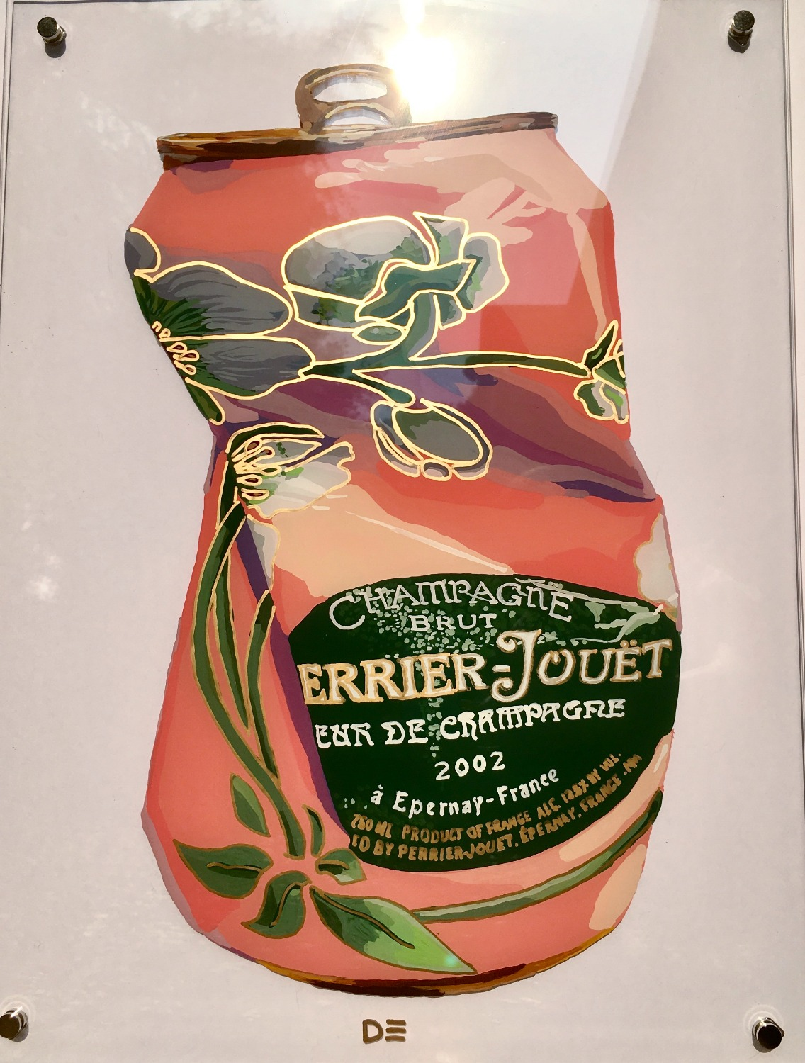 Perrier Jouet Rose Crushed Can