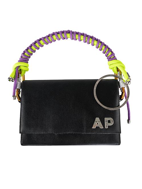 Monogram College Black Handbag