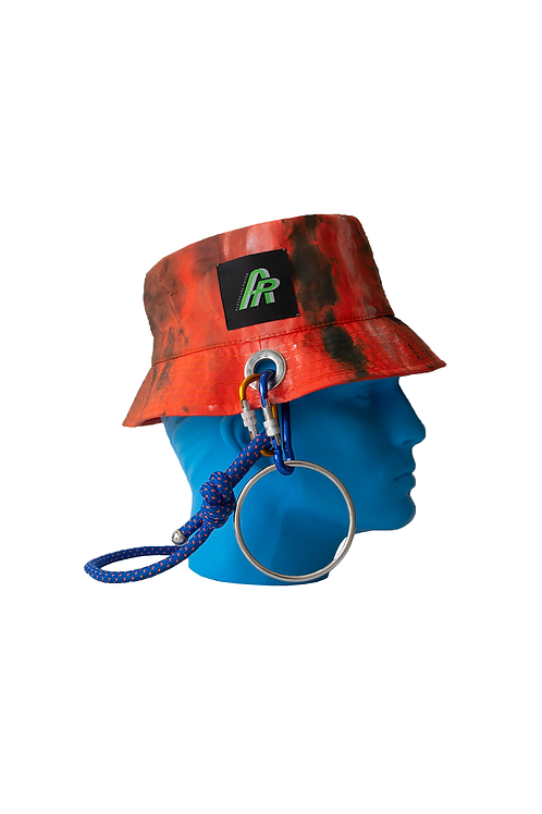 Orange Hand Painted Bucket Hat