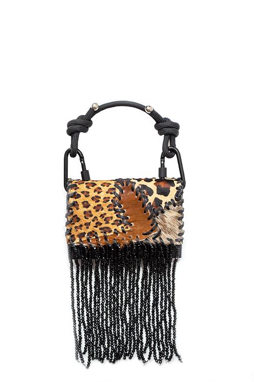 Black Crystal Patchwork Handbag