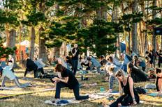 Yoga at Spirit Fest by Luke Gabites
