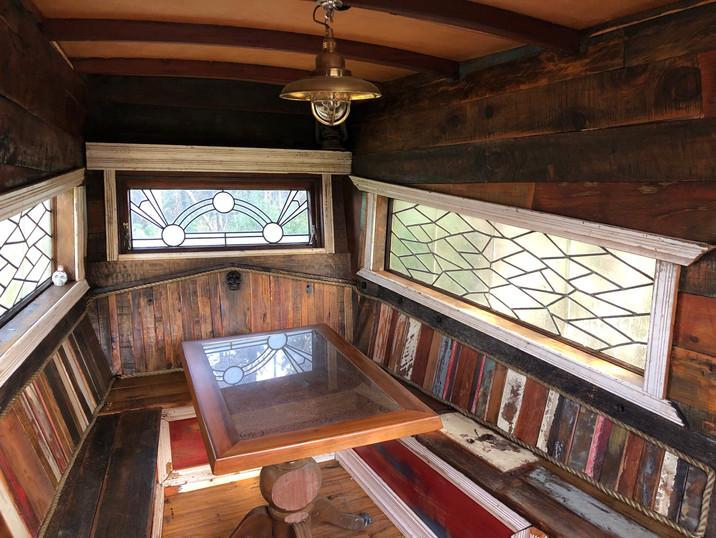 Inside Hinemoana the Pirateship Treehouse at Tanglewood Retreat
