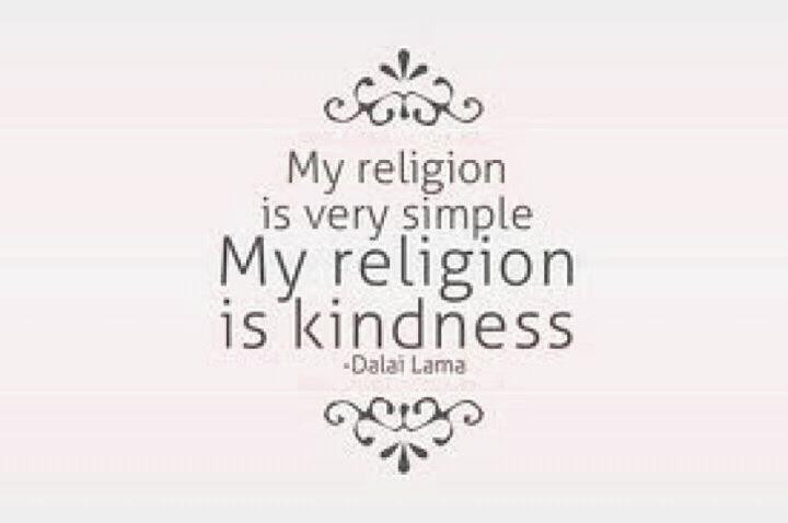 Religion is kindness